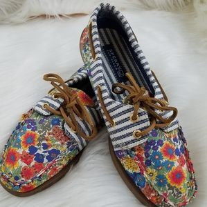 Sperry top-sider floral stripe shoes size 7m